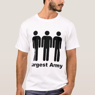 Größtes Armee-Schwarzes T-Shirt