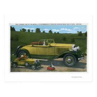 Größtes Auto in der Welt, Studebaker Prüfung Postkarte