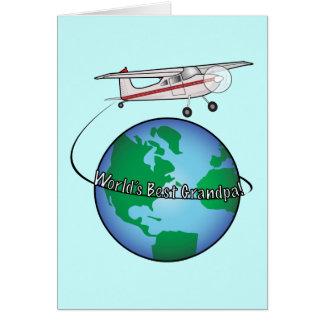 Großvater-alles Gute zum Geburtstag mit Flugzeug-K
