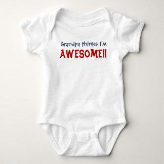 Großvater denkt, dass ich fantastisch bin! baby strampler