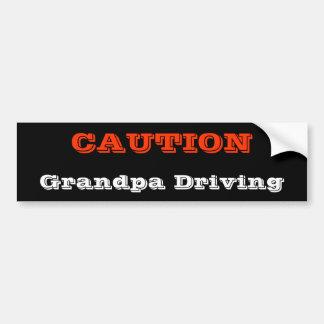 Großvater-Fahren Autoaufkleber
