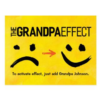 "Großvater-Gruß - ""den Großvater-Effekt "" Postkarte"