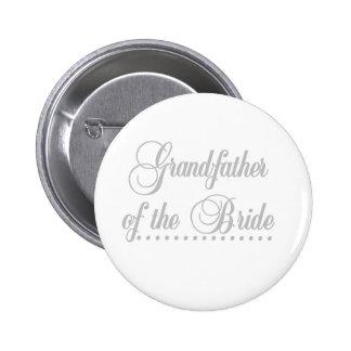 Großvater von Braut-Grau-Eleganz Runder Button 5,1 Cm