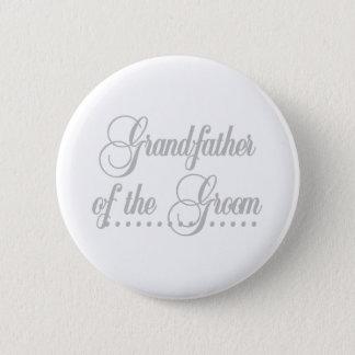 Großvater von Bräutigam-Grau-Eleganz Runder Button 5,1 Cm