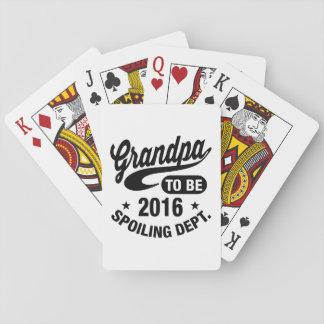 Großvater, zum 2016 zu sein spielkarten