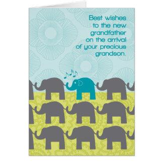 Großväterlicher Glückwunsch-neuer Enkel-niedliche Grußkarte