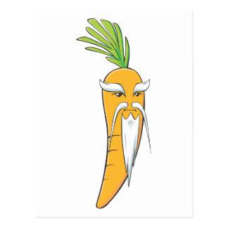 Großväterliches Karotten-Gemüse Postkarte