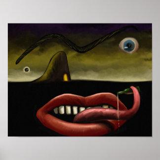 Grotesk - surreales Digital-Malerei-Plakat 11x14 Poster