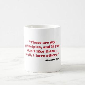 Groucho Marx - Prinzipien Kaffeetasse