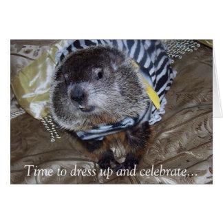 Groundhog Maude Geburtstags-Karte Karte