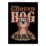 Groundhog Tag mit niedlichem Cartoon Groundhog Grußkarte