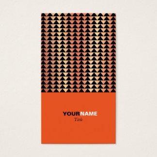 Groupon moderne Orange Visitenkarte
