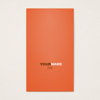 Groupon Orange Visitenkarte