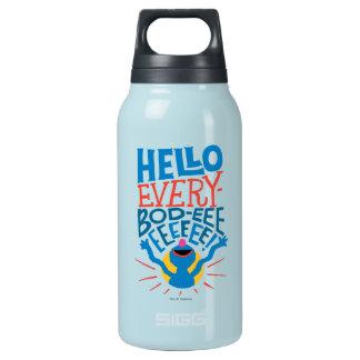 Grover hallo isolierte flasche