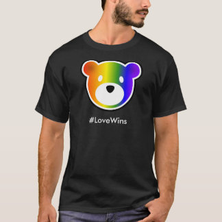 GROWLr #LoveWins dunkel T-Shirt