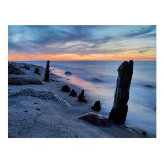 Groyne auf der Ostseeküste Postkarte
