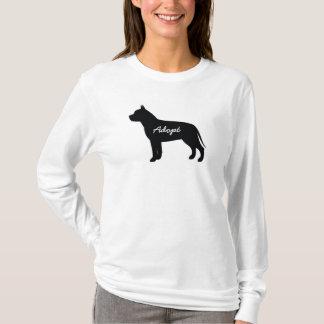 Grube Stier adoptieren Logo - langes Hülsen-Shirt T-Shirt