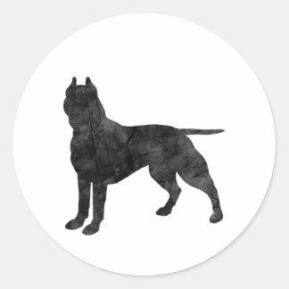 Gruben-Stier-Hundegrunge-Silhouette Aufkleber