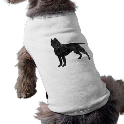 Gruben-Stier-Hundegrunge-Silhouette Hunde T Shirts