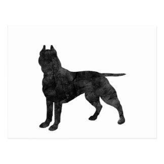 Gruben-Stier-Hundegrunge-Silhouette Postkarten
