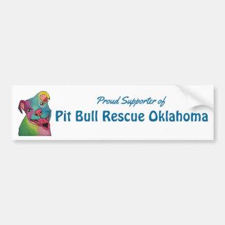 Gruben-Stier-Rettung OklahomaBumper Aufkleber, Autoaufkleber