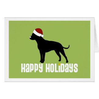 Gruben-Stier-Weihnachtsmannmütze Karte