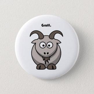 Gruff grauer Ziegen-Cartoon Runder Button 5,7 Cm