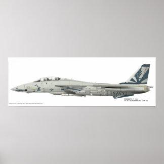 "Grumman F-14 A, VF-111 ""Sundowners"" führte Druck Poster"