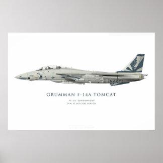 "Grumman F-14 ein Tomcat VF-111 ""Sundowners-"" Poster"