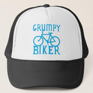 GRUMY RADFAHRER mit Fahrrad im Blau Truckerkappe