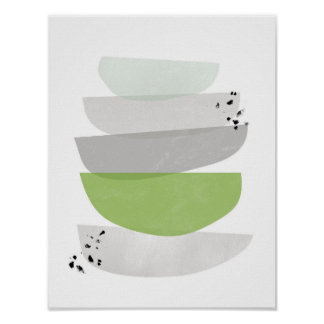 Grün abstrakt, unbedeutender Plakatdruck Poster