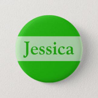 Grün addieren Ihren Namen Runder Button 5,1 Cm