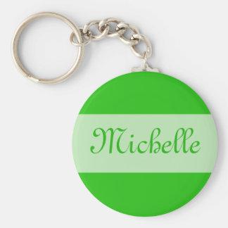 Grün addieren Ihren Namen Standard Runder Schlüsselanhänger