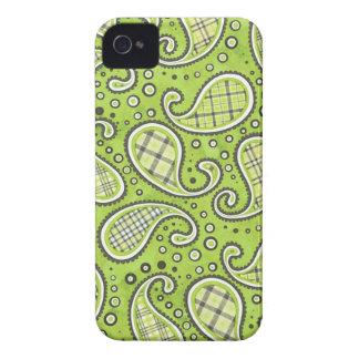 Grün-Apple Paisley BlackBerry-Kasten Case-Mate iPhone 4 Hüllen