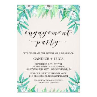 Grün arbeiten botanisches Wreath-Verlobungs-Party 12,7 X 17,8 Cm Einladungskarte