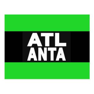 Grün Atlantas 2 Postkarte