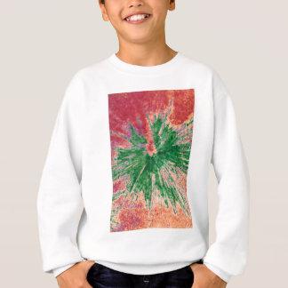 Grün auf rotem und orange Paintball Sweatshirt