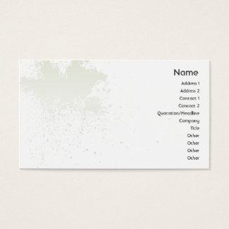 Grün auf weißem Spritzer - Geschäft Visitenkarte