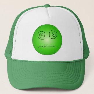 Grün-betäubter und verwirrter smiley truckerkappe