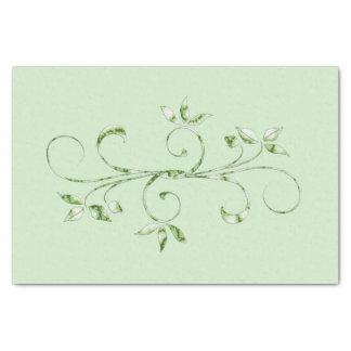 Grün-Blätter auf tadellosem Grün Seidenpapier