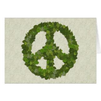 Grün-Blätter des Friedens Karte