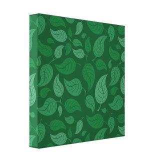 Grün-Blätter Leinwanddruck