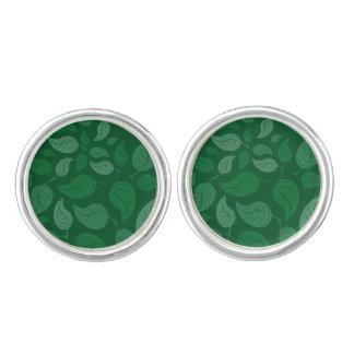 Grün-Blätter Manschettenknöpfe