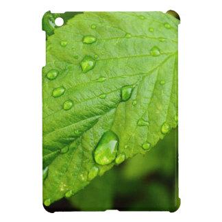 Grün-Blätter mit Tropfen Folhas verdes COM gotas iPad Mini Cover