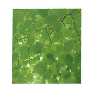 Grün-Blätter Notizblock