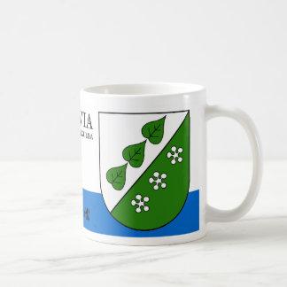 Grün-Blätter u. Blüten von Sigulda Lettland Kaffeetasse