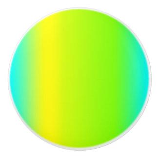 Grün, blau, gelb, Steigungs-Entwurf - Fach-Griff Keramikknauf