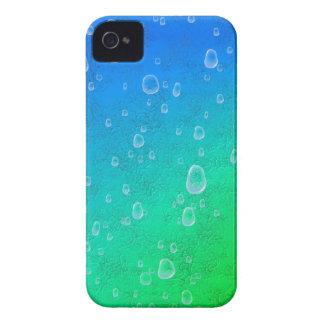 Grün blau Regenbogen mit Regentropfen iPhone 4 Case-Mate Hülle