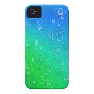 Grün blau Regenbogen mit Regentropfen iPhone 4 Hüllen