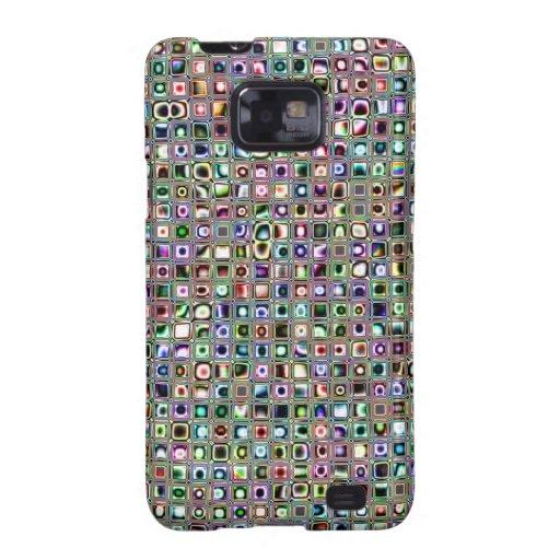 """Grün-blaue """"Bijoux"""" maserten Mosaik-Fliesen-Muster Samsung Galaxy SII Cover"""